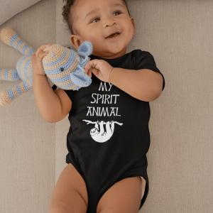 Baby Romper Sloth is my Spirit Animal Cotton Infant Bodysuit