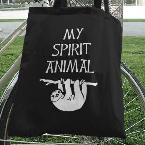 Sloth is my Spirit Animal Cotton Canvas Tote Bag