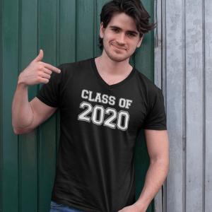 Mens Class of 2020 V-Neck T-Shirt