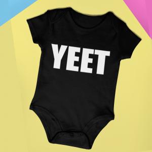 Baby Romper YEET! Cotton Infant Bodysuit