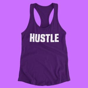 Womens Hustle Racerback Tank Top