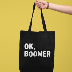 Ok, Boomer Cotton Canvas Tote Bag