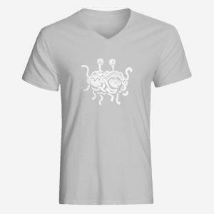 Mens Flying Spaghetti Monster V-Neck T-Shirt