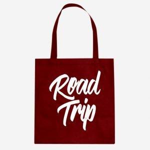 Road Trip Vacation Cotton Canvas Tote Bag