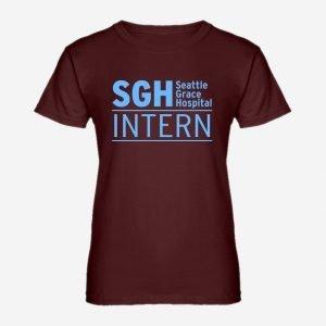 Womens Intern Seattle Grace Hospital T-Shirt