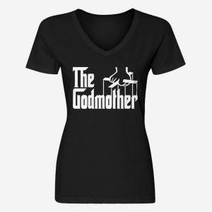 Womens The Godmother V-Neck T-Shirt